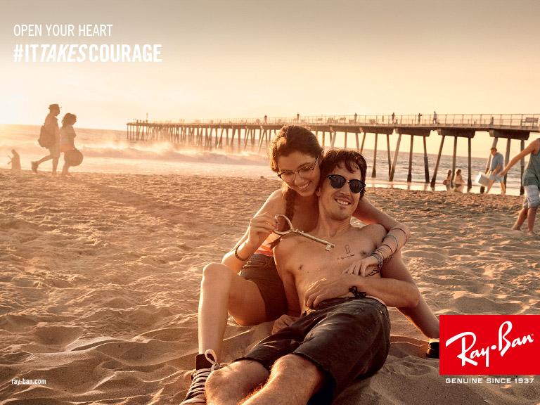 Ray-Ban Beach Couple #ITTAKESCOURAGE